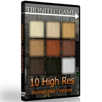 10 High Res Human Hair Textures