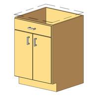 12_Base Cabinet_1Drawer-2Door