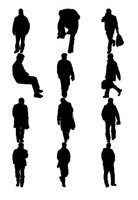 Man figure silhouettes