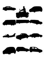 Vehicle figure silhouettes
