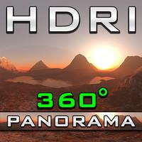 HDRI Panorama - Alpine Glow