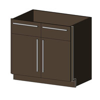 Base Cabinet, 2 Drawers & 2 Doors