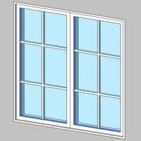 Casement-Dbl+2x3 Grids
