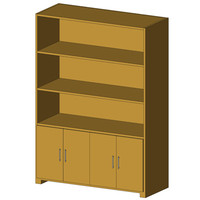 Cabinets with Shelving