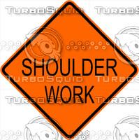 Construction Shoulder Work Sign