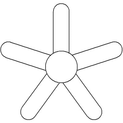 Ceiling fan symbol images galleries for Ceiling fan electrical symbol