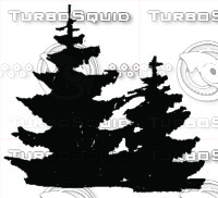 Sketch Elevation Pine Tree
