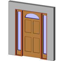 Entry + 2 Sidelite + Rnd Top Glass