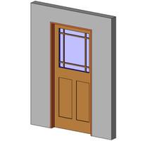 Entry + Top Glass + Prairie Grid