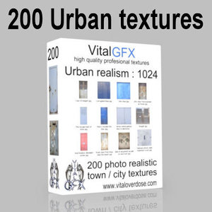200 Game ready Urban textures : 1024 pack