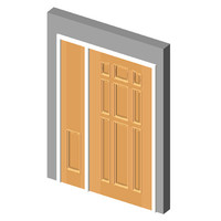 Oakcraft 9-Panel w Blank Top 1-Panel Sidelight