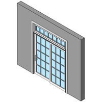 Wood Exterior Sliding Patio Door, Single With Transom