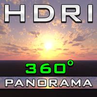 HDRI Panorama - Pink Fluffy Clouds