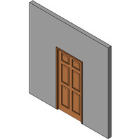 Wood Sliding Pocket Door, Single
