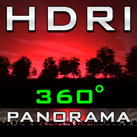 HDRI Panorama - Red Forest