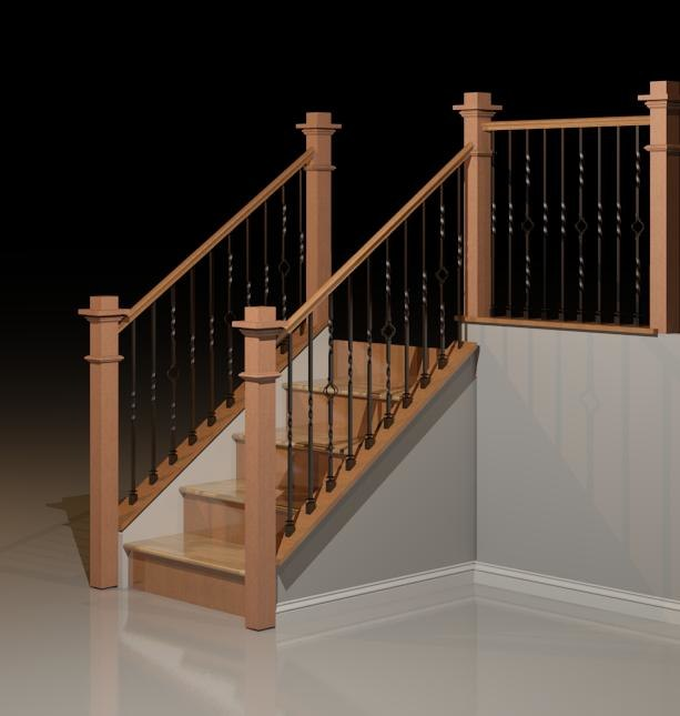 Craftsman Railing w Twist Basket
