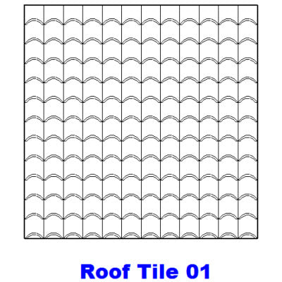 Building other model hatch pattern for Roof tile patterns