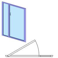 Shower Door-Glass at Latch