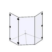 Shower Screen-Frameless Corner (NZ)