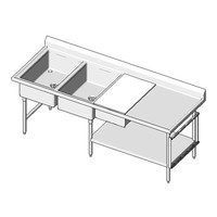 Universal Stainless Prep Table PT-84