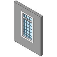 Fixed Window, Single With Transom