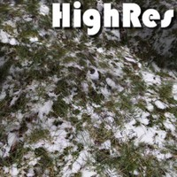Snow and grass texture
