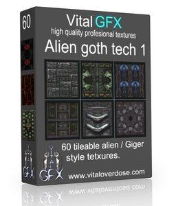 60 Alien Goth Tech 1 ( Giger style )