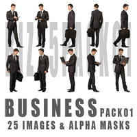 BUSINESS pack 01 / 25 images & alpha masks