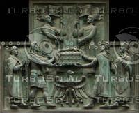 Bronze plaque texture