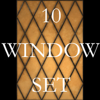 10 Diamond Window Texture Set