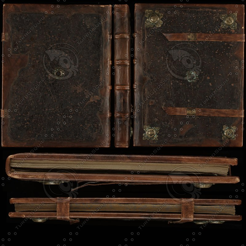 Book Cover Texture Ds Max : Texture png book leather medieval
