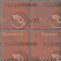 Tileable terra cotta floor tiles