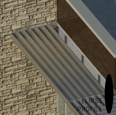 Sun Shade Louver- Elipse Profile