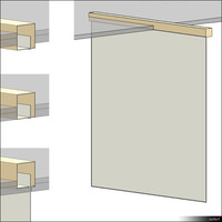 Projection Screen Ceiling Mount 00358se