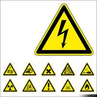 2D Symbol Warning Signs 00924se