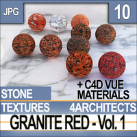 Granite Red Vol. 1 - Textures & Materials