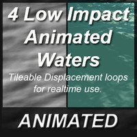 Animated Waters (4) Tileable Displacement Loops