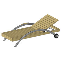 Outdoor Chaise Lounge Chair