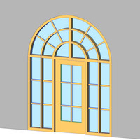 Decorative Arch Door