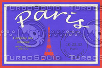 Vintage Luggage Stickers - Paris