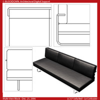 LC5.F Sofa Bed Multi-View Block