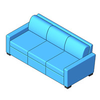 Sofa - Portola - Sofa 84 Inch Threeseater