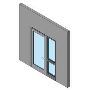 Hollow Metal Swing Door, Single With Sidelite