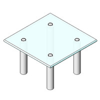 Table - Boss Design - Boxer Coffee Table - Square