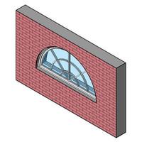 Fixed Window, Half-Round