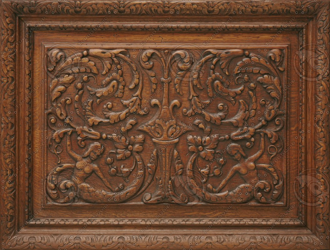 Texture png carved panel wood