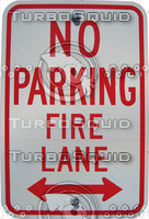 Fire Lane Sign 01.psd