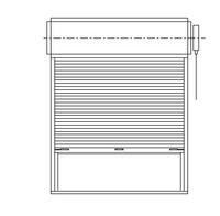 gx_DOOR Counter Shutter Elevation