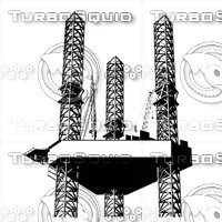 rig, oil, gas, energy, offshore, vector,