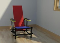 Rietveld Red and Blue Chair